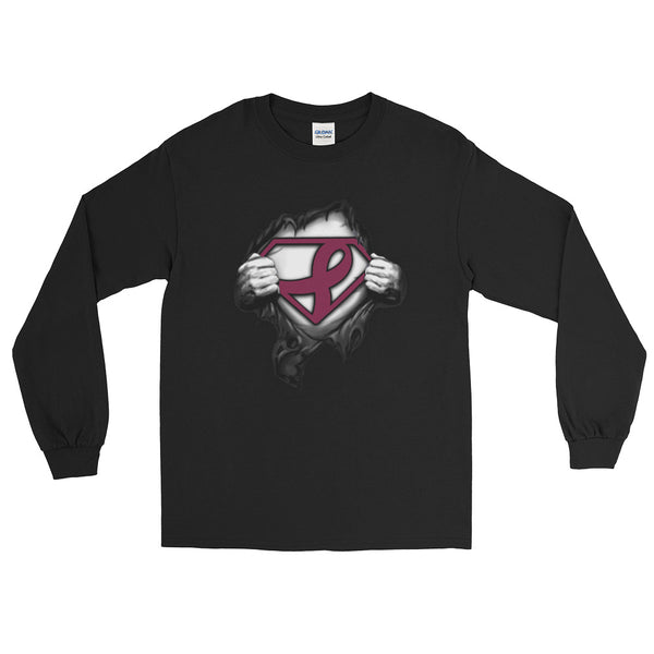 Superman---Support multiple myeloma cancer Long Sleeve T-Shirt