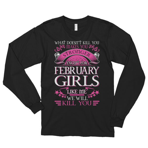 Queens born february Long sleeve t-shirt (unisex)