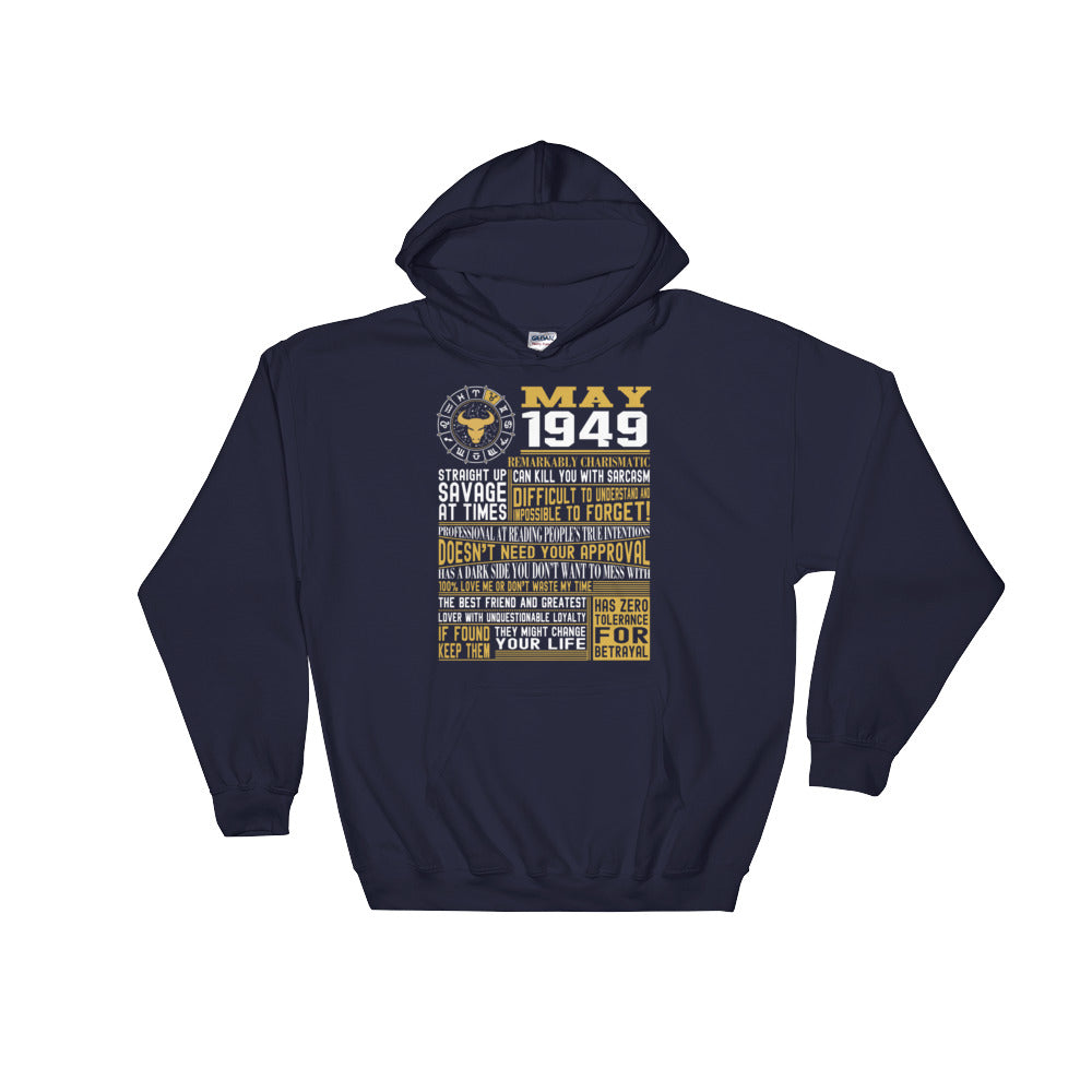 Born in May 1949 facts Hooded Sweatshirt