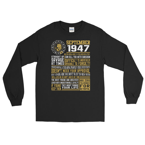 Born in september 1947 facts Long Sleeve T-Shirt