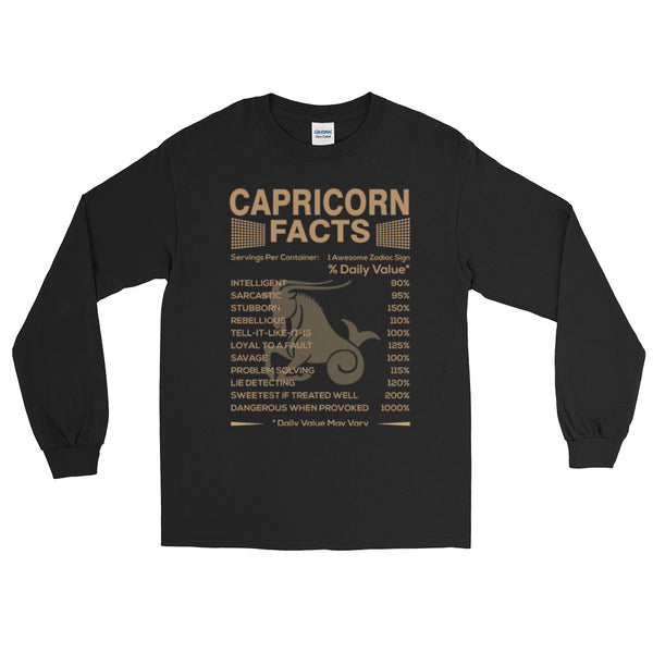 Born Capricorn facts Long Sleeve T-Shirt