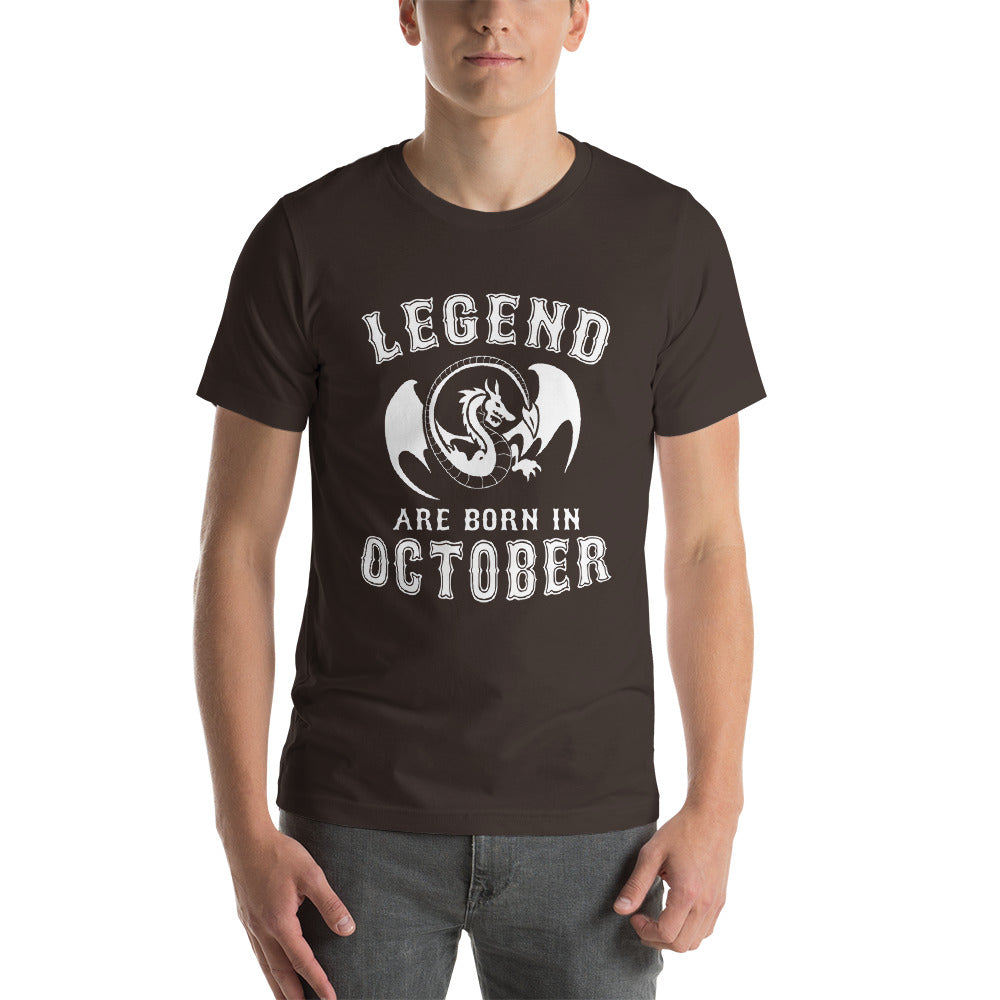 Legends are born in october Short-Sleeve Unisex T-Shirt