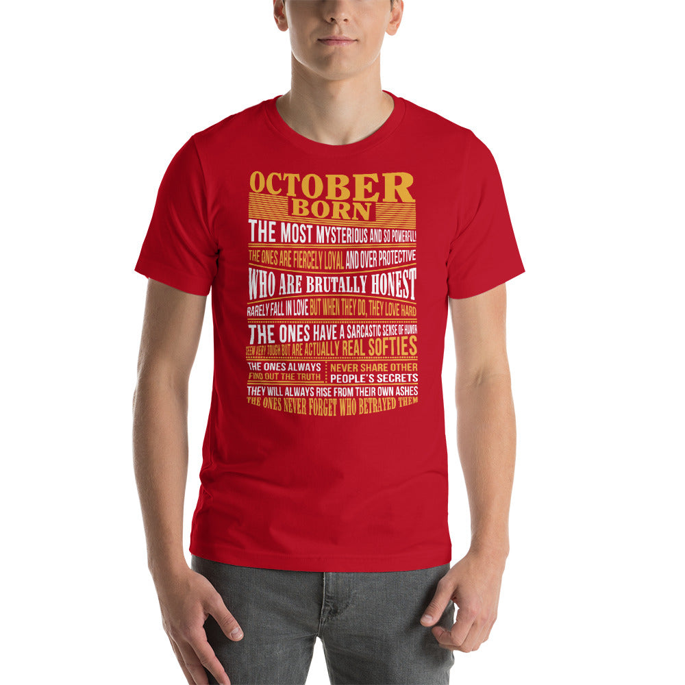 Born in October true facts for mens, womens