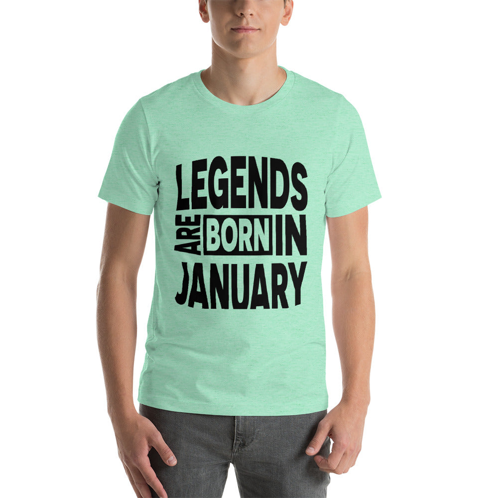 Legends are born in january Short-Sleeve Unisex T-Shirt