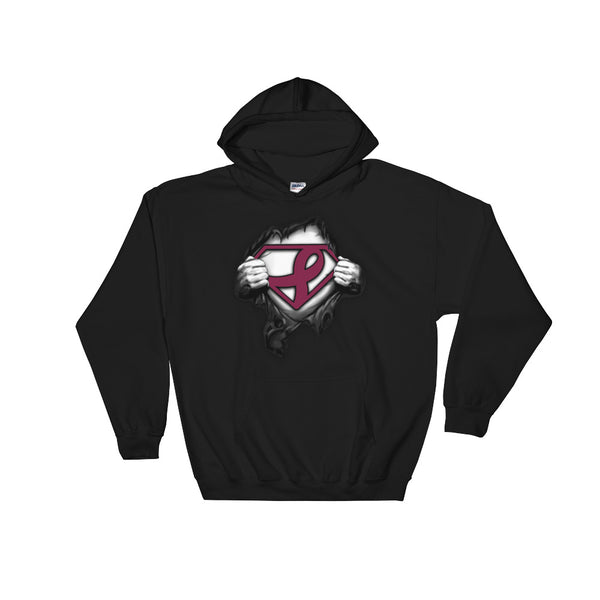 Superman Support multiple myeloma cancer Hooded Sweatshirt
