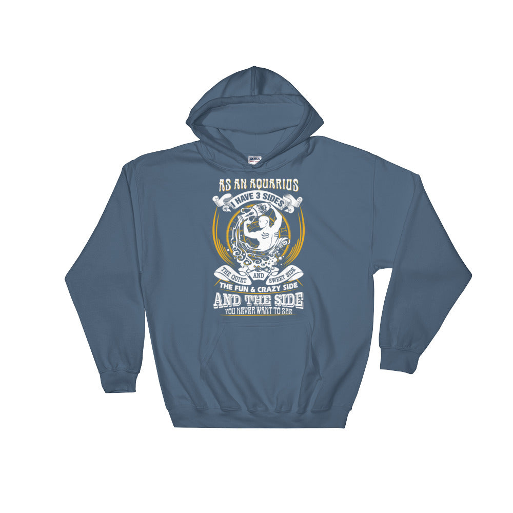 Aquarius born Hooded Sweatshirt