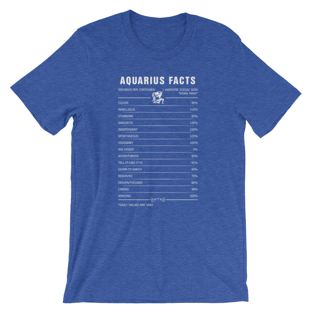 Born Aquarius facts Short-Sleeve Unisex T-Shirt
