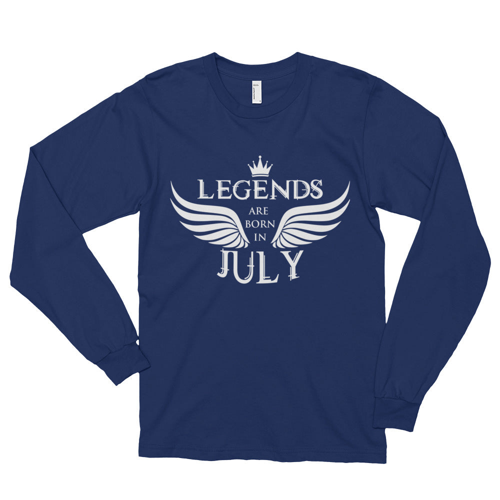 Legends are born in july Long sleeve t-shirt (unisex)