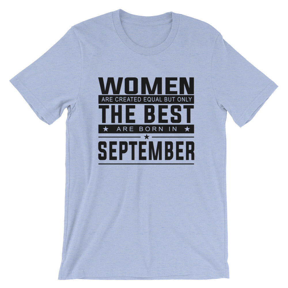 Women born September Short-Sleeve Unisex T-Shirt