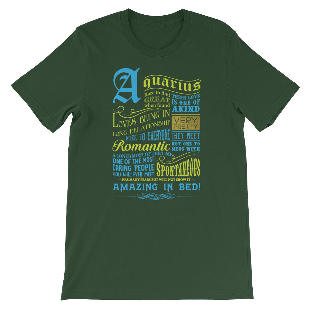 Aquarius born facts Short-Sleeve Unisex T-Shirt