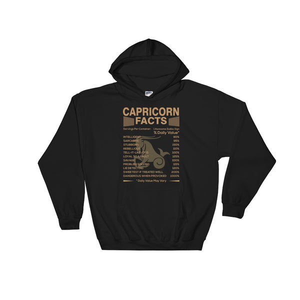 Born Capricorn facts Hooded Sweatshirt