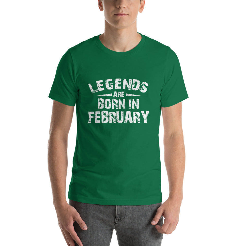 Legends are born in february Short-Sleeve Unisex T-Shirt