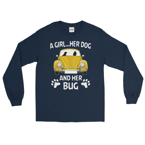 A girl her dog and her bug Long Sleeve T-Shirt