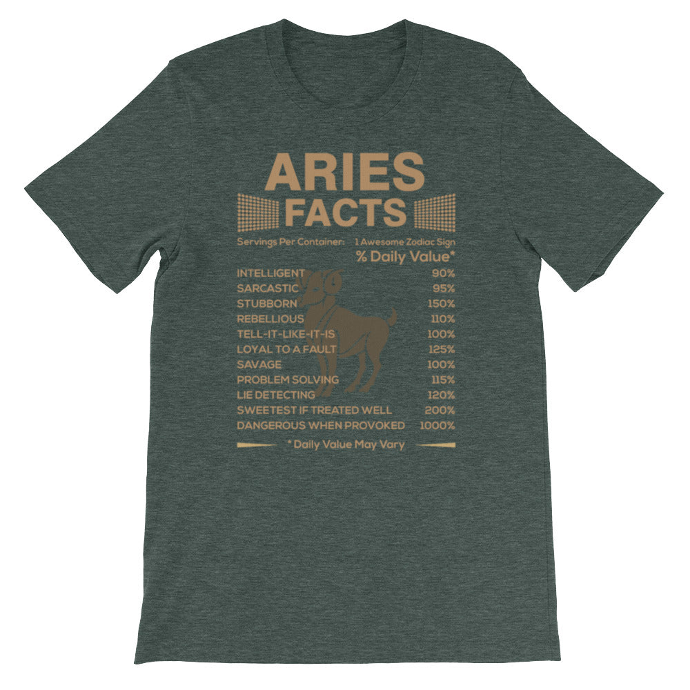 Born Aries facts Short-Sleeve Unisex T-Shirt