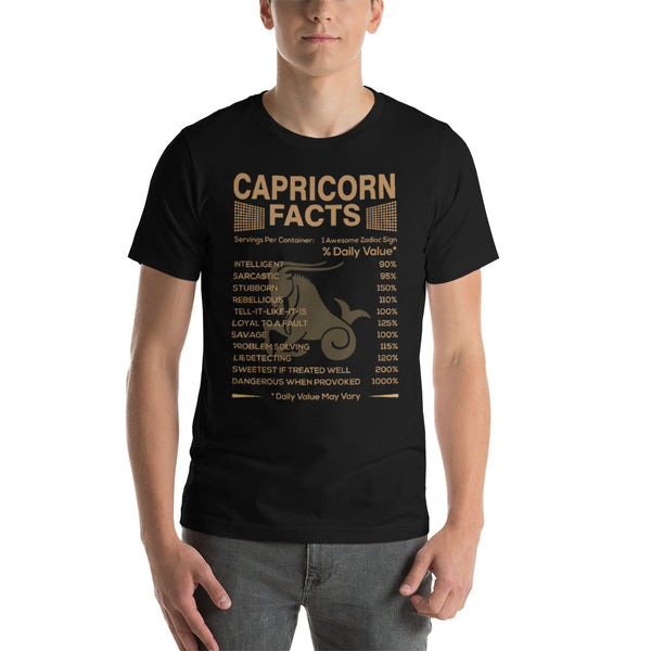 Born Capricorn facts Short-Sleeve Unisex T-Shirt
