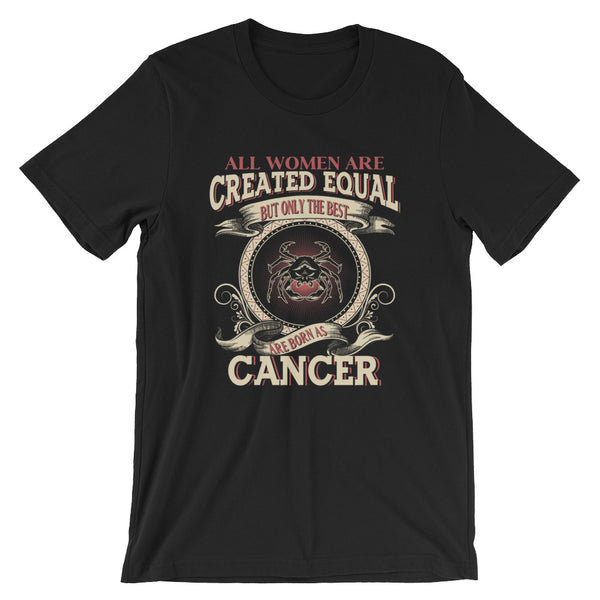 Women born Cancer Short-Sleeve Unisex T-Shirt