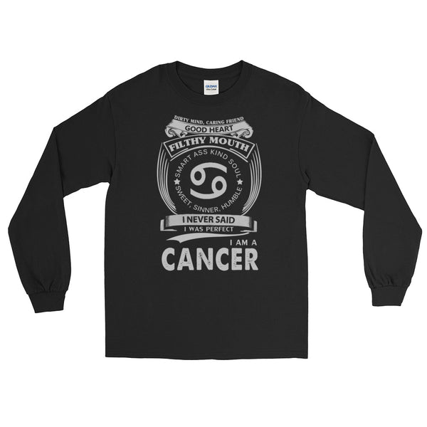 Cancer born proud Long Sleeve T-Shirt