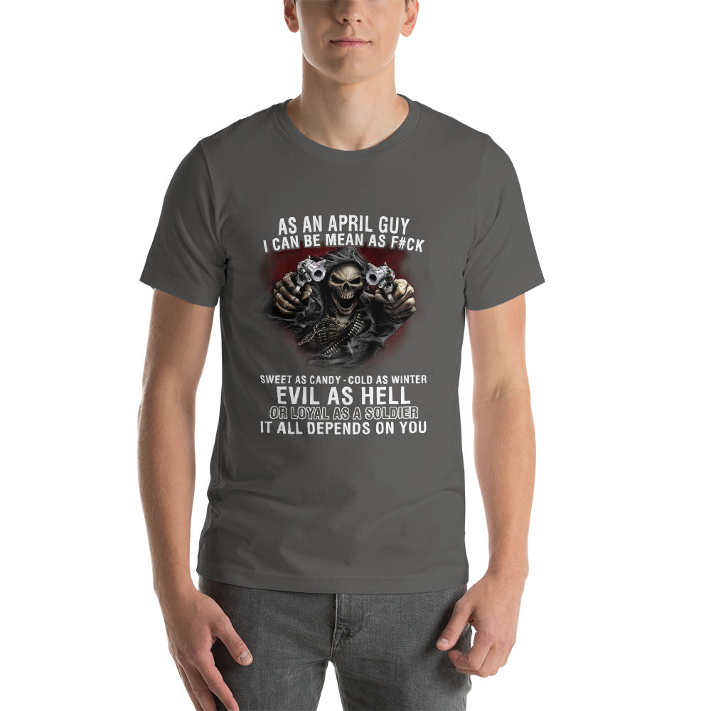 Born April Short-Sleeve Unisex T-Shirt