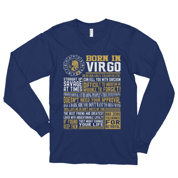 Born in Virgo facts Long sleeve t-shirt (unisex)
