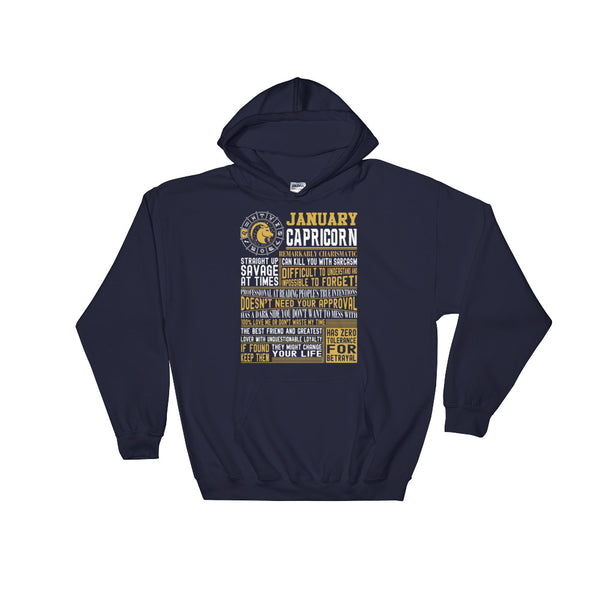 Born in January Capricorn facts Hooded Sweatshirt