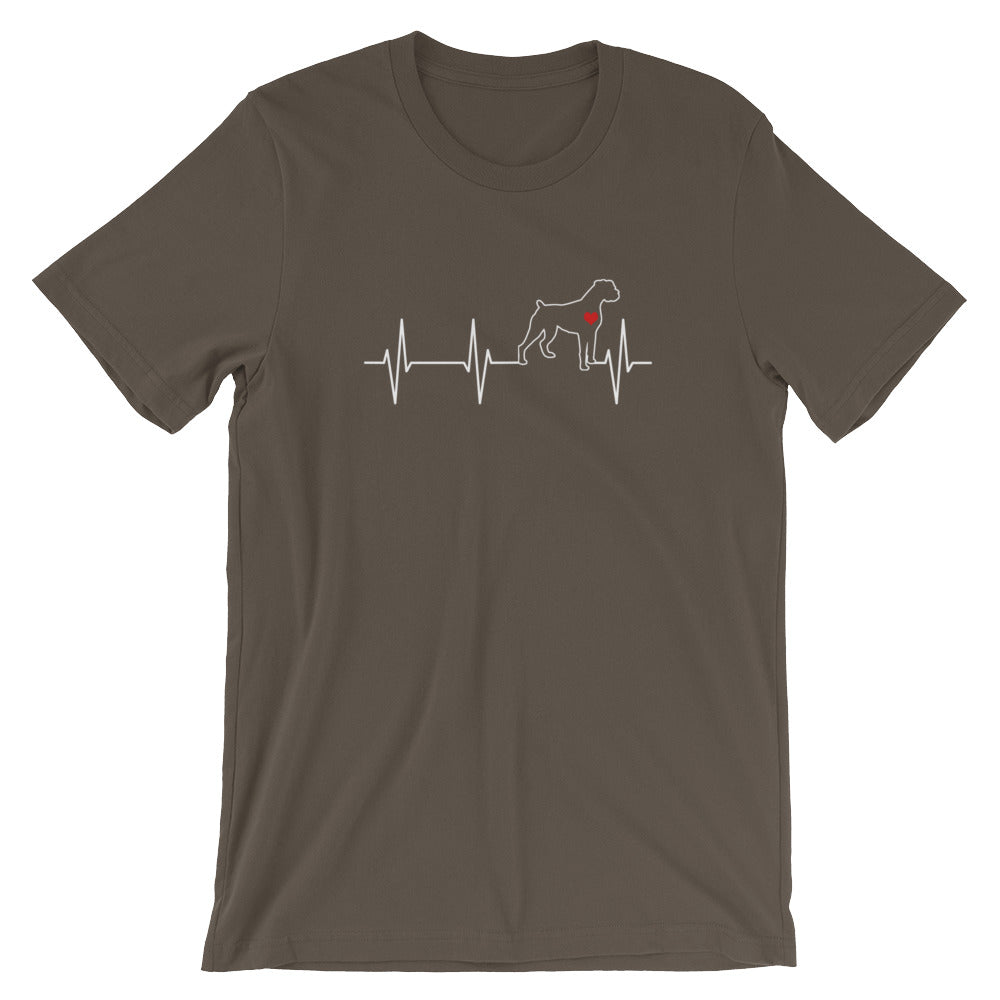 Love Boxer heartbeat Short-Sleeve Unisex T-Shirt