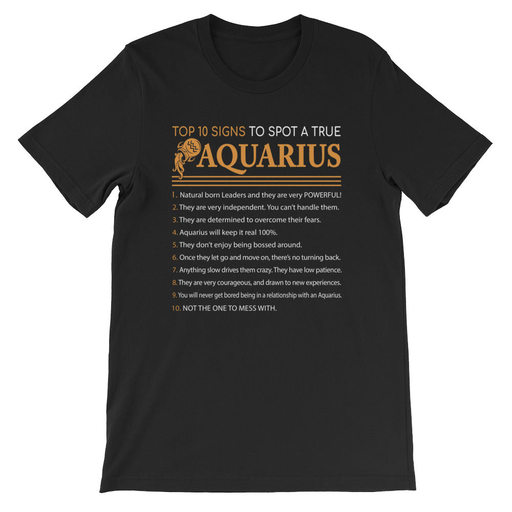 Aquarius proud Short-Sleeve Unisex T-Shirt