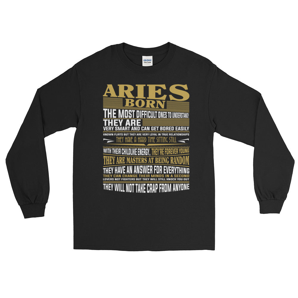 Born Aries facts Long Sleeve T-Shirt