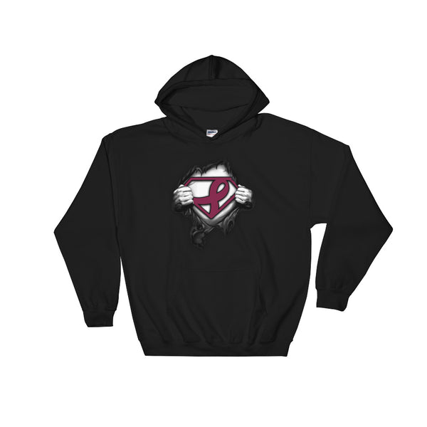Superman---Support multiple myeloma cancer Hooded Sweatshirt