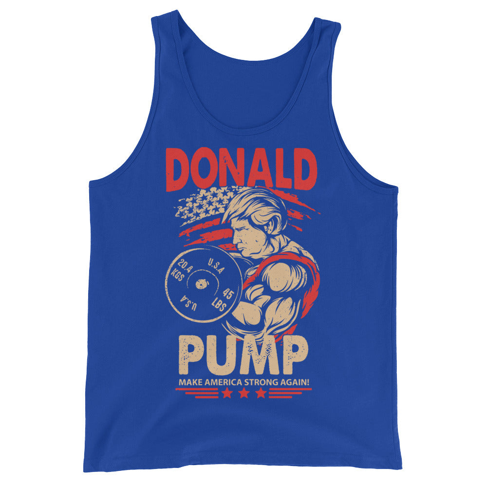 Mens Donald Pump Make America Strong Again Mugs Unisex  Tank Top
