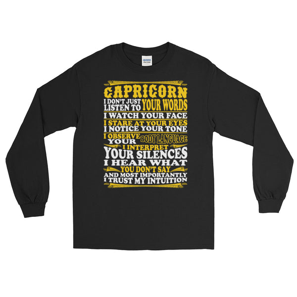 Capricorn born facts Long Sleeve T-Shirt