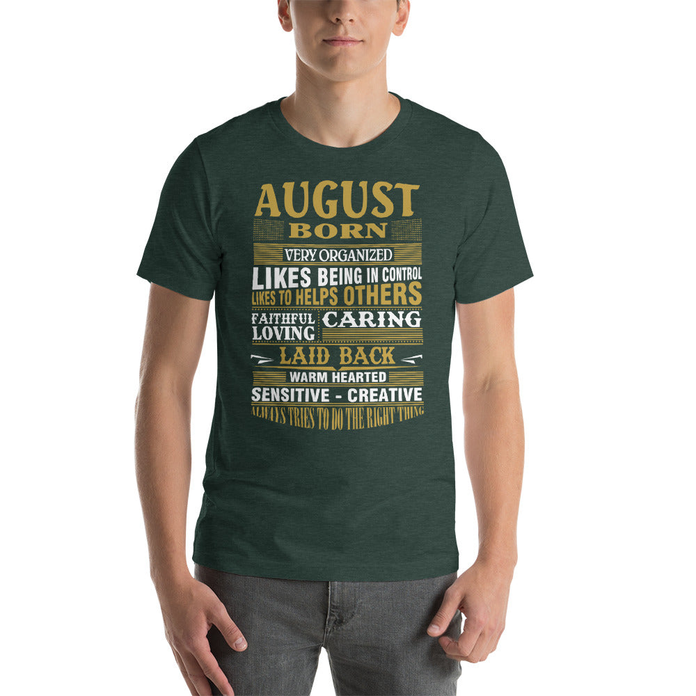 August born Short-Sleeve Unisex T-Shirt