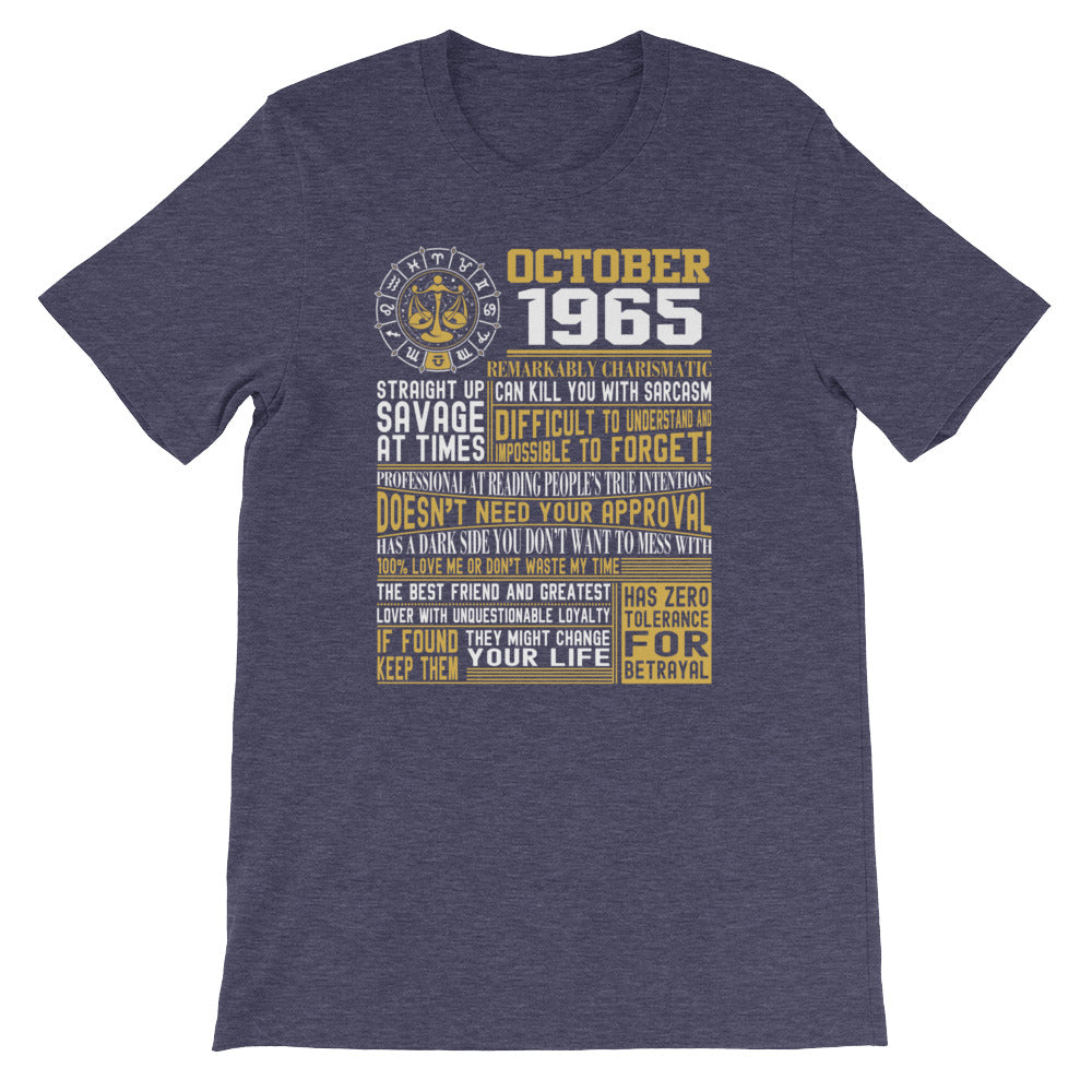 Born in October 1965 facts Short-Sleeve Unisex T-Shirt