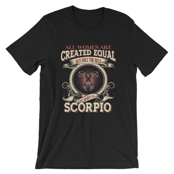 Women born Scorpio Short-Sleeve Unisex T-Shirt
