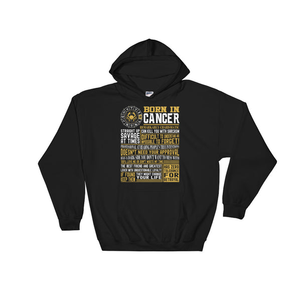 Born in Cancer facts Hooded Sweatshirt
