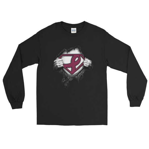 Superman Support multiple myeloma cancer Long Sleeve T-Shirt