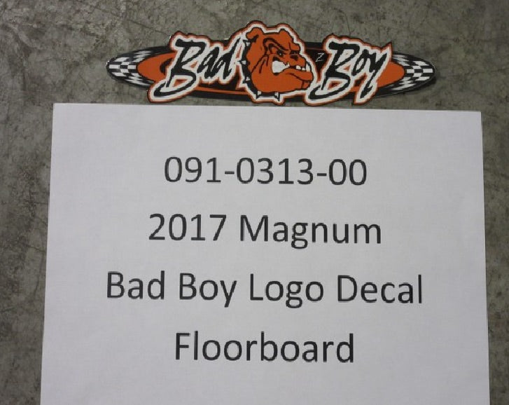 Bad Boy OEM 091-0313-00 Magnum Bad Boy Logo Decal Floor Board