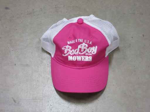 "Bad Boy Mowers ""Made in the USA"" Pink Hat"