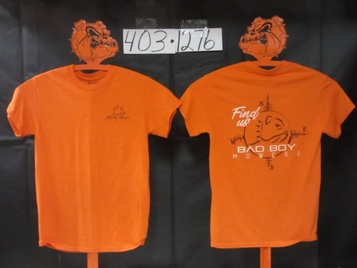 Bad Boy Mowers Find Us T-Shirt Orange