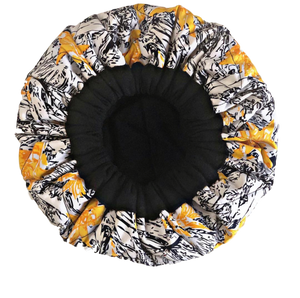 Manetain India - Heat Cap Black and Yellow Print
