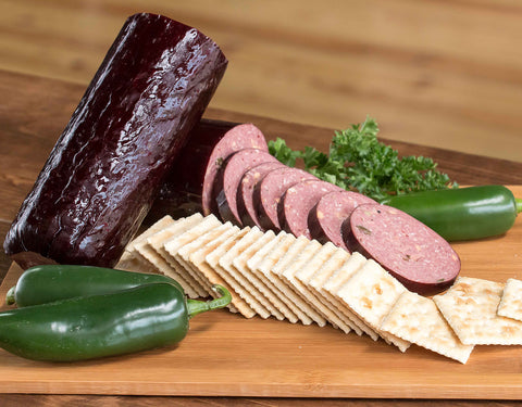 Hot & Cheesy Summer Sausage (1lb.) - B&B Quality Meats