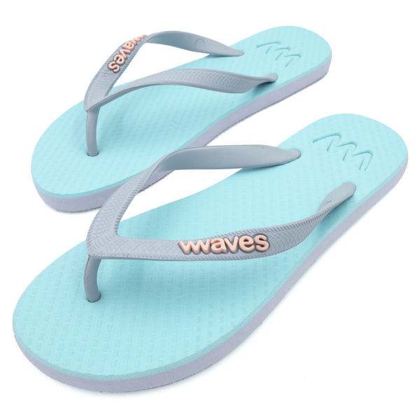Light Blue and Light Purple Twofold Flip Flops, Women's