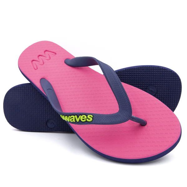 Pink and Navy Blue Twofold Women's Flip Flops