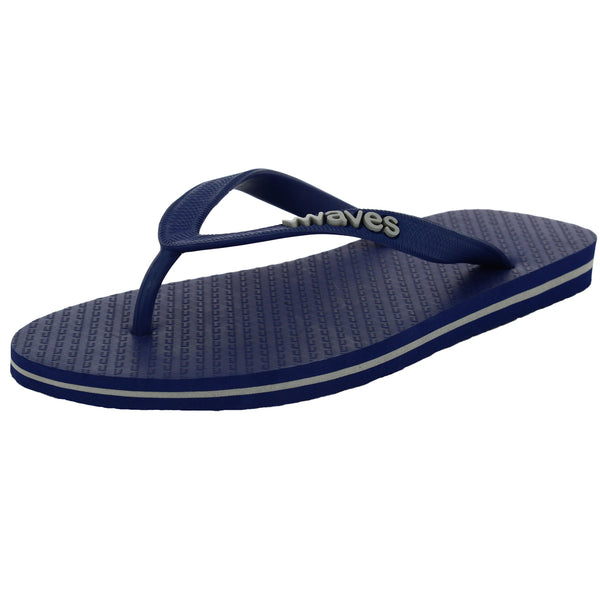 Navy Blue and Gray Tapered Flip Flops, Men's