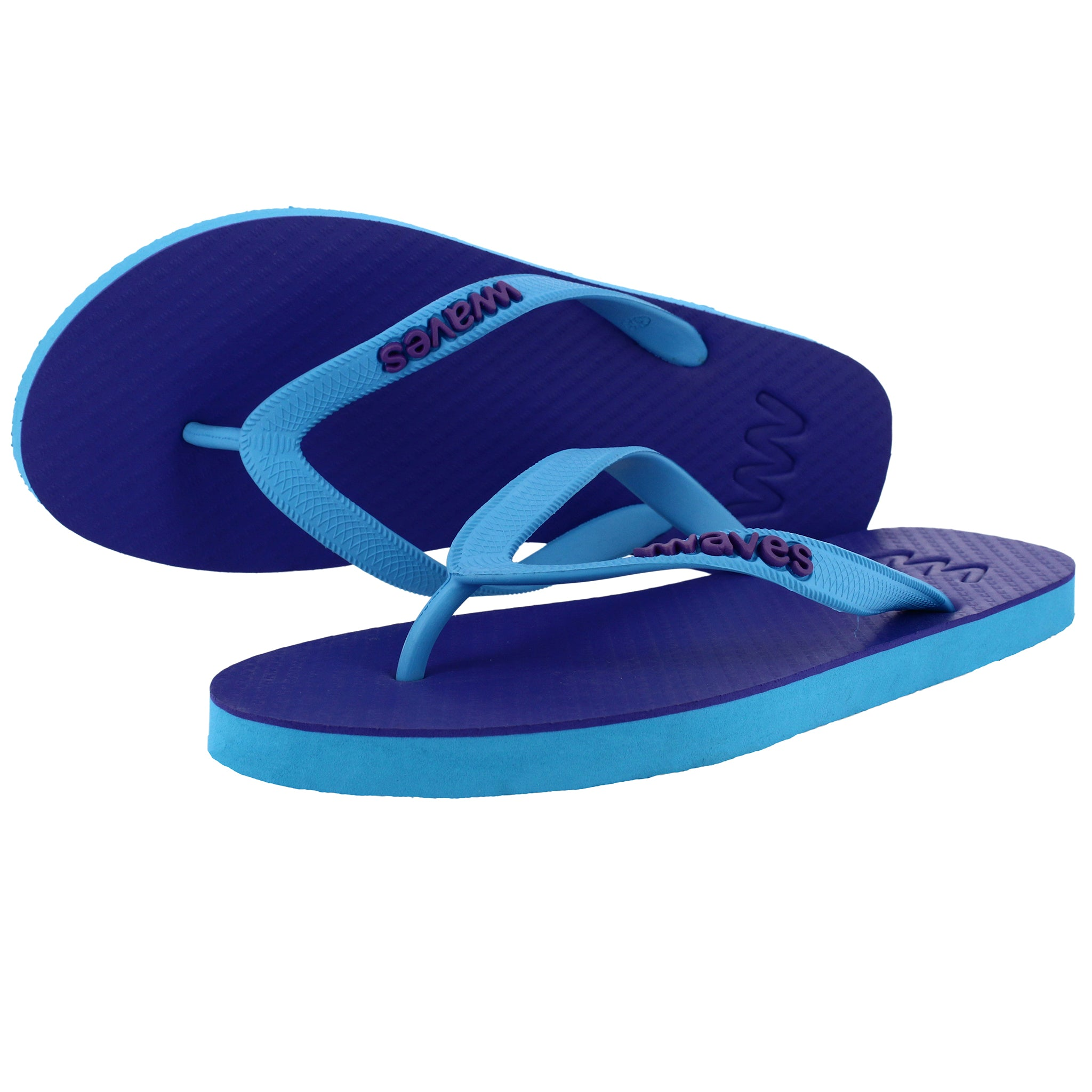 Blue and Purple Twofold Flip Flops, Men's