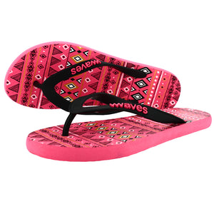 Pink Tribal Pattern Flip Flops, Women's