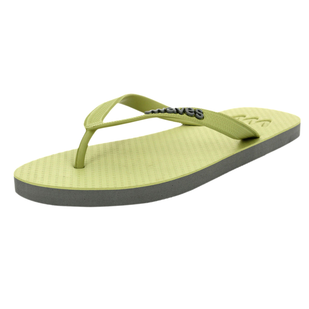 Olive Green and Gray Twofold Flip Flops