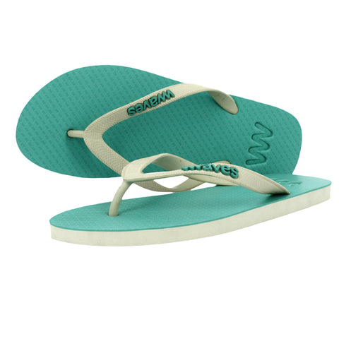 Sea Green and Gray Twofold Flip Flops, Men's