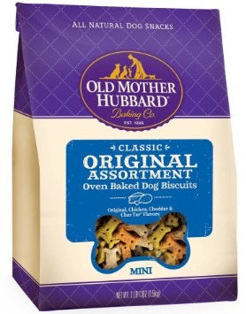 Old Mother Hubbard Crunchy Classic Natural Original Assortment Mini Biscuits Dog Treats