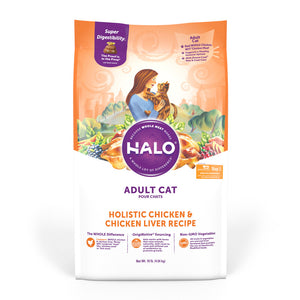 Halo Adult Holistic Chicken & Chicken Liver Recipe Dry Cat Food