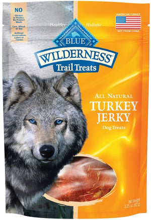 Blue Buffalo Wilderness Grain Free Trail Treats Turkey Jerky for Dogs